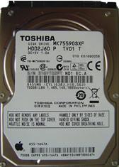 Toshiba Festplatte eines Macbooks mit Headcrash