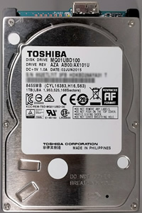 Externe Festplatte klackert, Geräusche, Toshiba MQ01UBD100